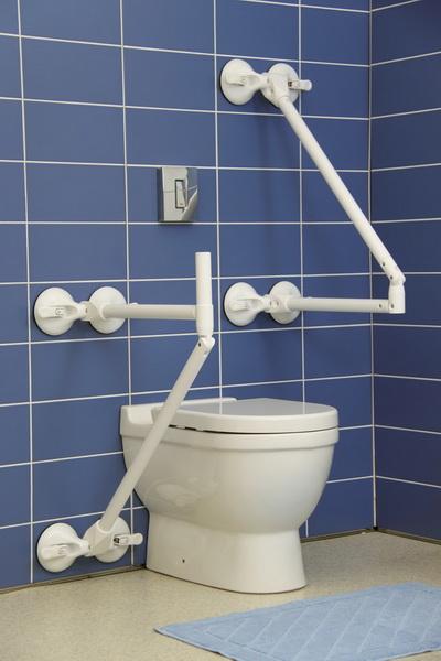 Mobilní zátěžové madla do koupelny